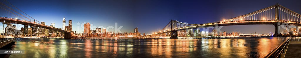 panorama of lower manhattan royalty-free stock photo