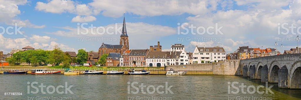 Panorama of Maastricht stock photo
