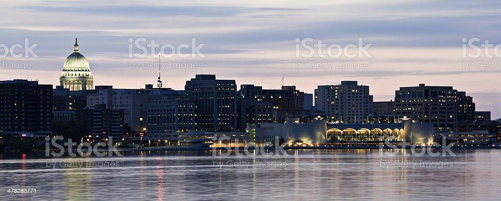 Panorama of Madison stock photo