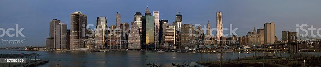 Panorama of Manhattan Skyline Early In the Morning royalty-free stock photo