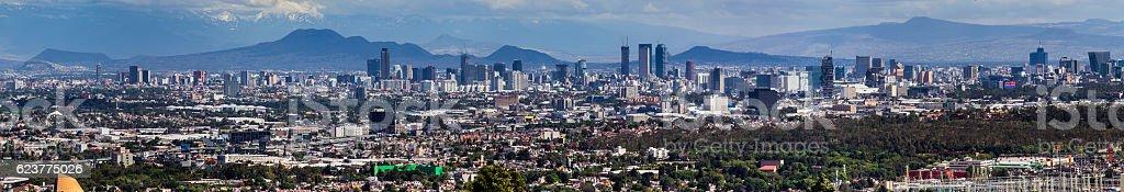 Panorama of Mexico City skyline stock photo