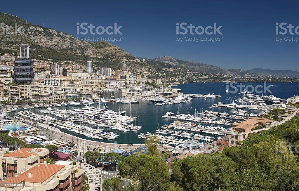 Panorama of Monaco Monte Carlo Nikon D3 royalty-free stock photo
