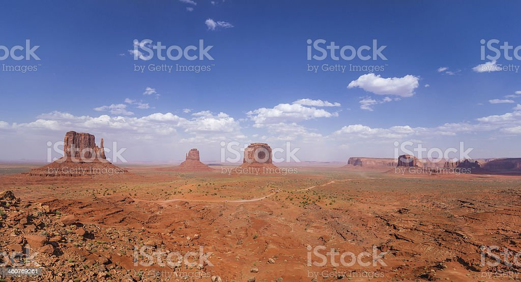 Panorama of Monument Valley in Arizona, USA royalty-free stock photo