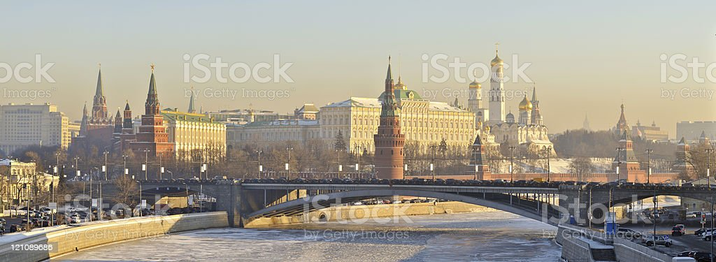 Panorama of Moscow Kremlin royalty-free stock photo
