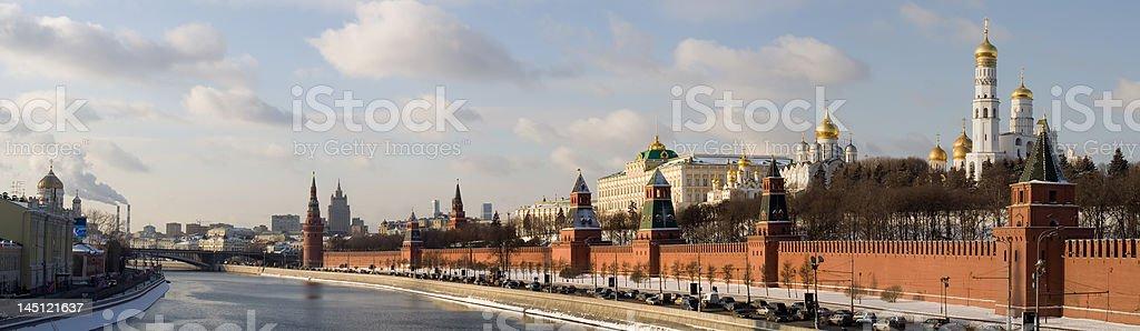 Panorama of Moscow Kremlin royalty-free stock photo