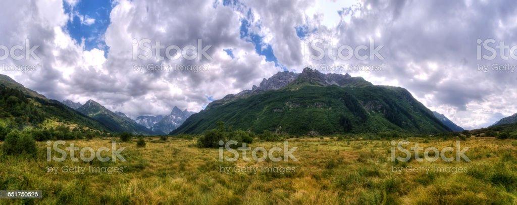 Panorama of mountain in summer stock photo