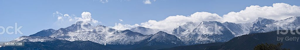 Panorama of Mountain Range in Colorado royalty-free stock photo
