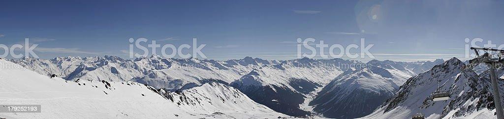 Panorama of mountains (Switzerland/Davos) stock photo
