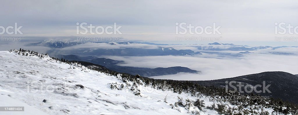 Panorama of Mt Moosilauke Undercast stock photo