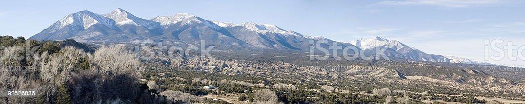 Panorama of Mt. Shavano royalty-free stock photo
