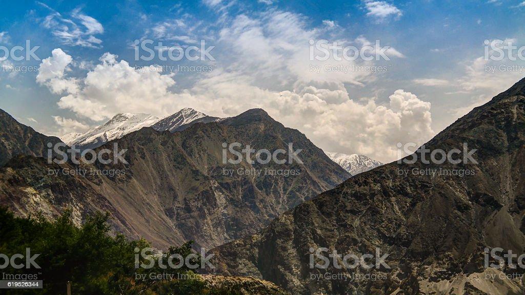 Panorama of Nanga-Parbat mountain,Gilgit-Baltistan Pakistan stock photo