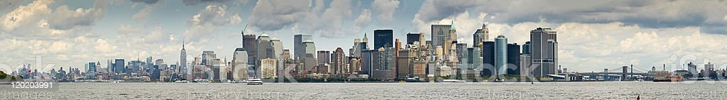 Panorama of New York City and Harbour stock photo