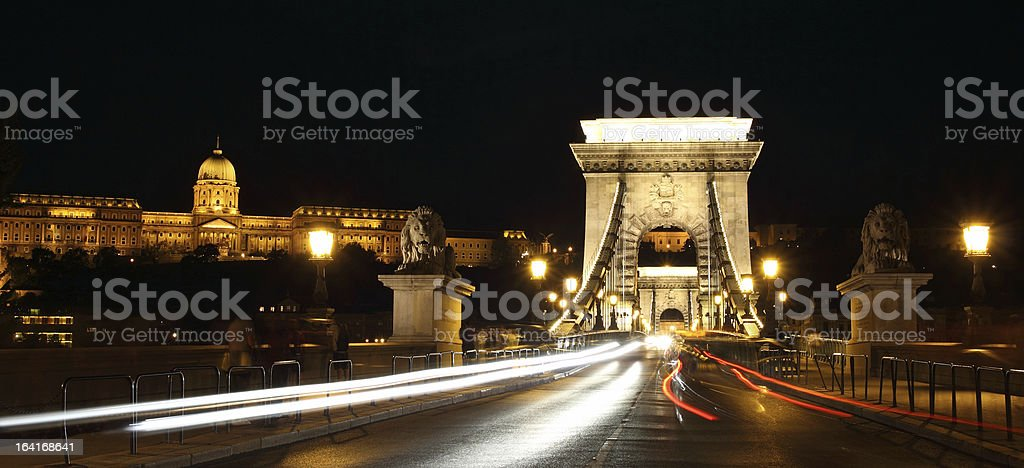 Panorama of Night Budapest. royalty-free stock photo