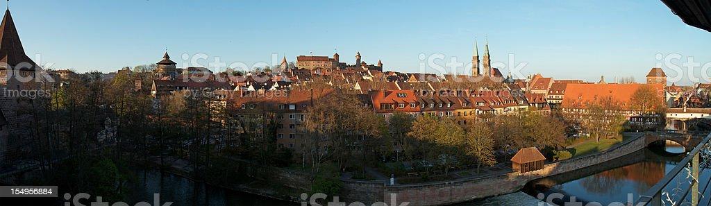 Panorama of Nuremberg stock photo