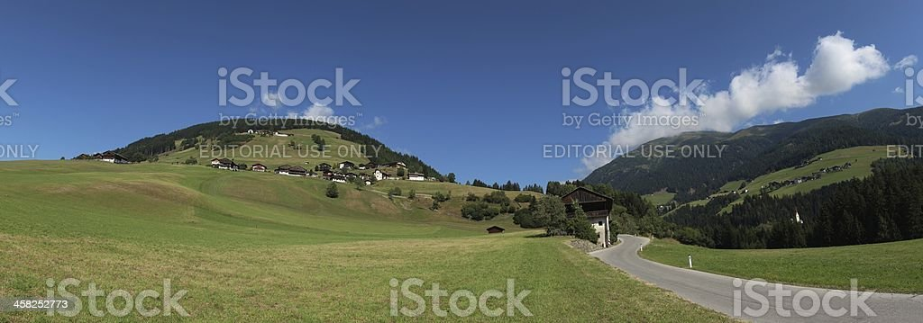 Panorama of Oberried, Osttirol, Tyrol, Austria royalty-free stock photo
