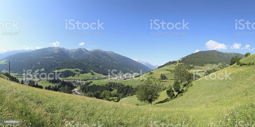 Panorama of Osttirol, Heinfels, Tyrol, Austria royalty-free stock photo