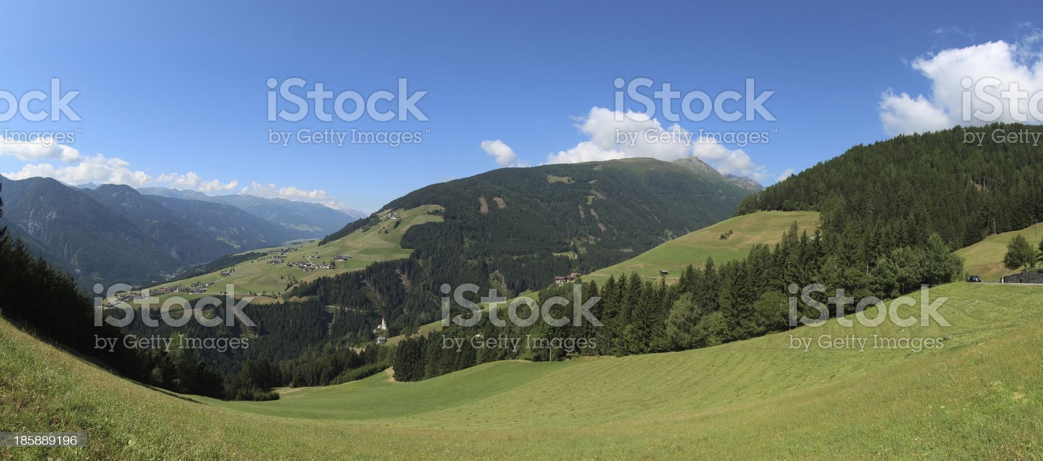 Panorama of Osttirol, Pustertaler H?henstrasse, Tyrol, Austria royalty-free stock photo
