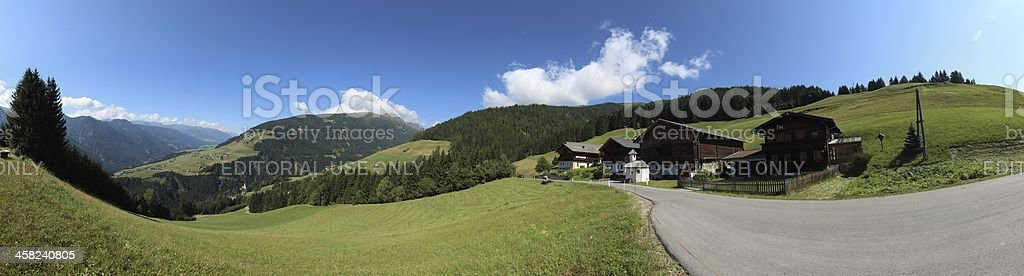Panorama of Osttirol, Pustertaler Höhenstrasse, Tyrol, Austria royalty-free stock photo