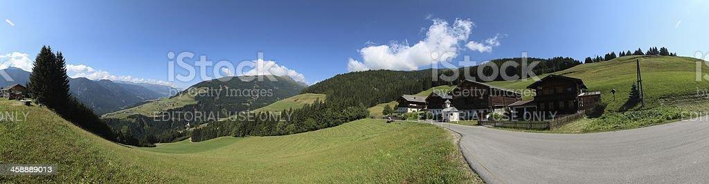 Panorama of Osttirol, Pustertaler Höhenstrasse, Tyrol, Austria royalty-free stock photo