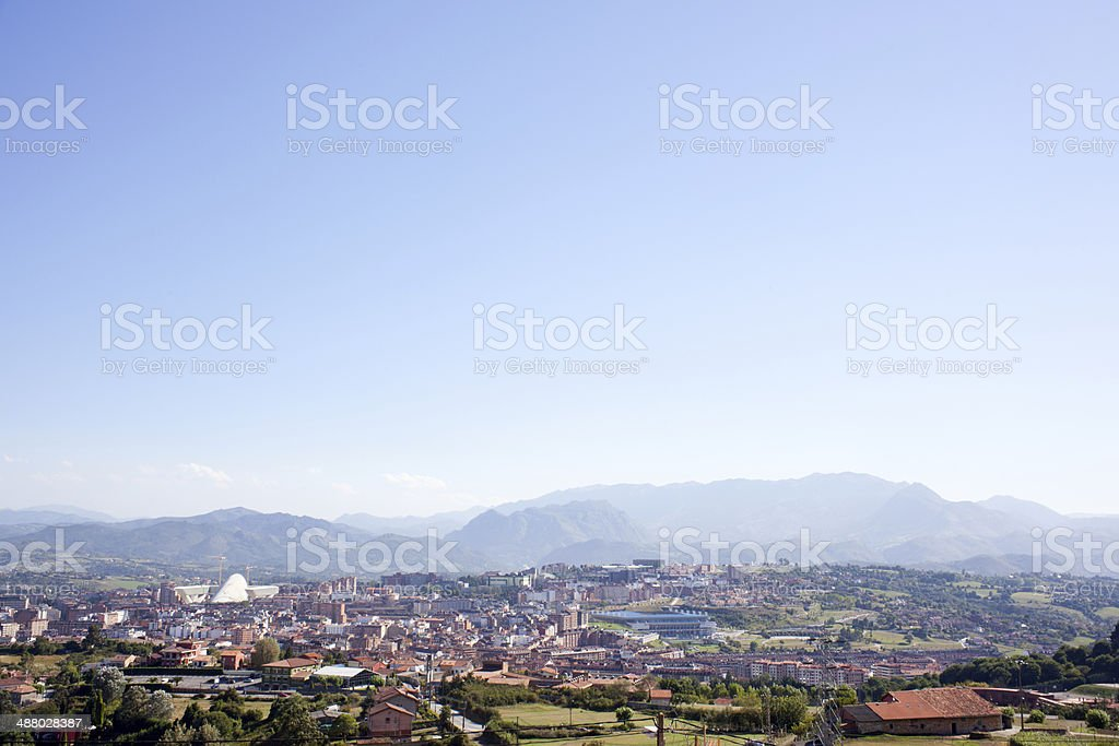 Panorama of Oviedo stock photo