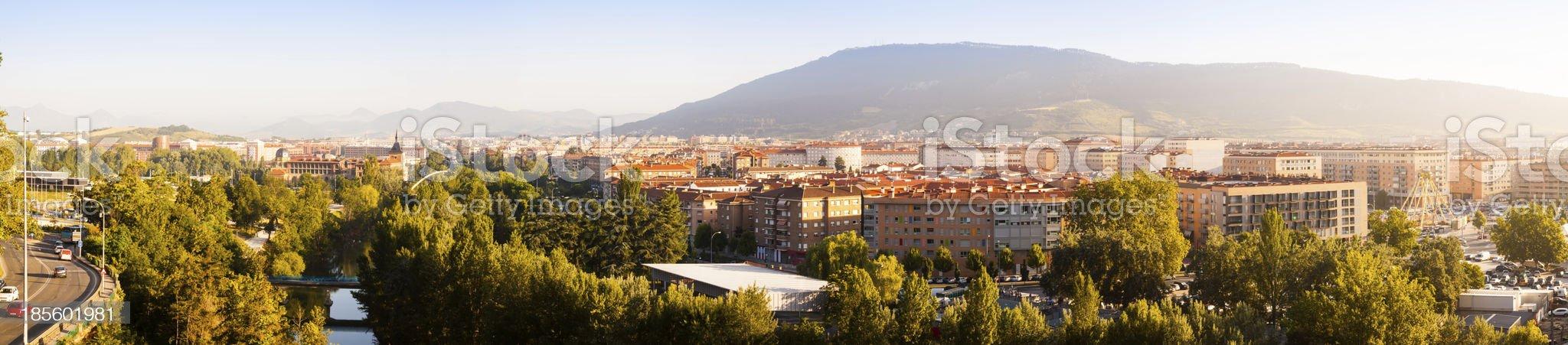 Panorama of Pamplona royalty-free stock photo