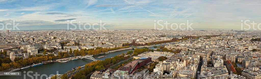 Panorama of paris from the Eiffel Tower stock photo
