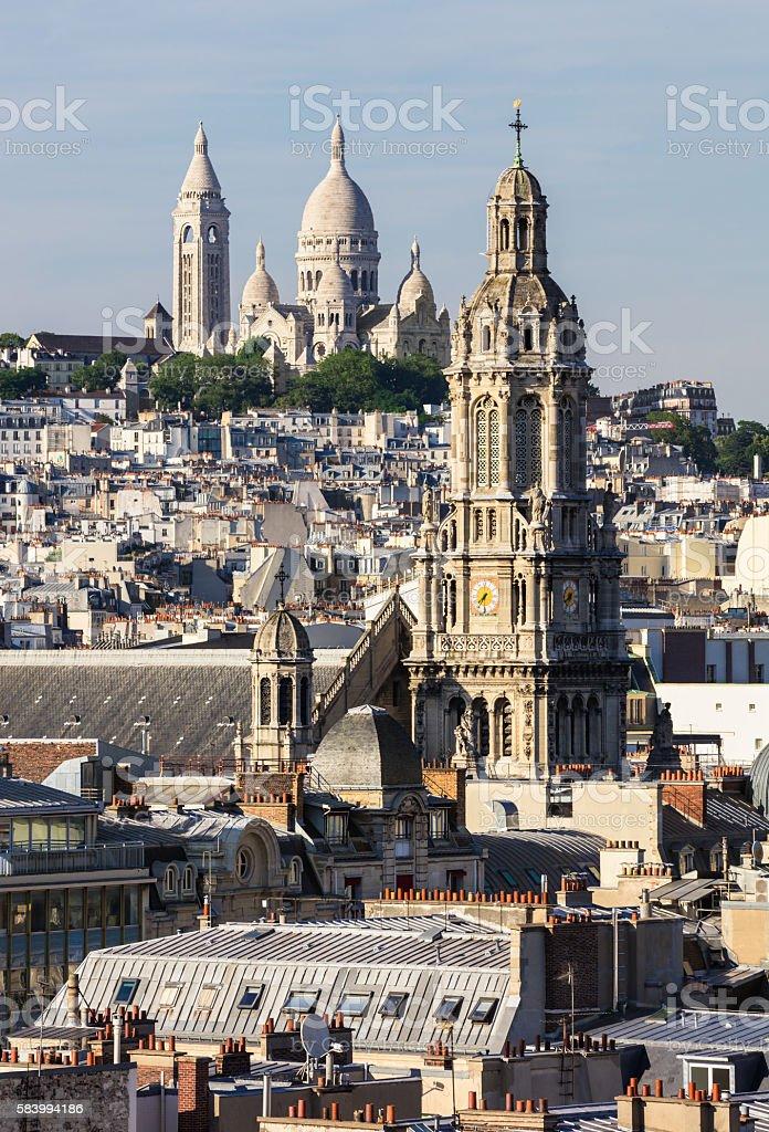 Panorama of Paris royalty-free stock photo
