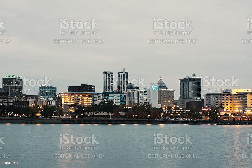 Panorama of Peoria stock photo