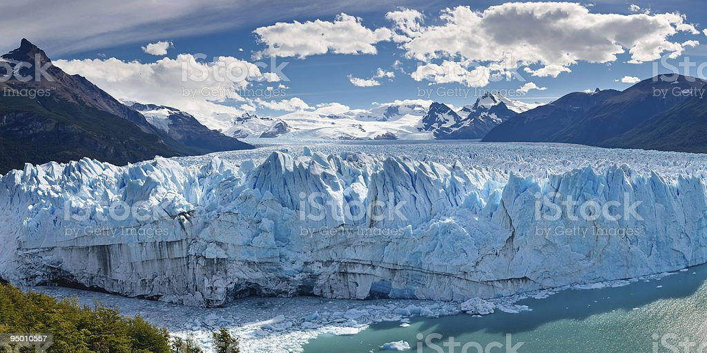 Panorama of Perito Moreno Glacier, Patagonia, Argentina stock photo