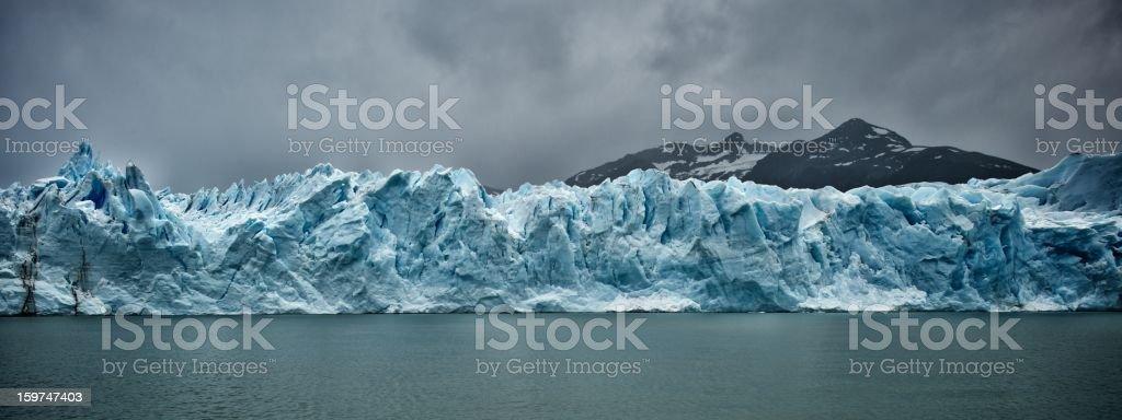 Panorama of Perito Moreno royalty-free stock photo