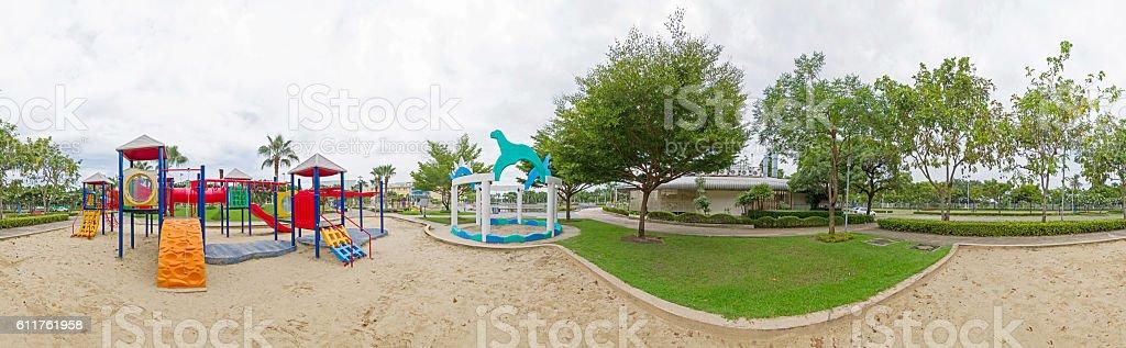 Panorama of playground stock photo
