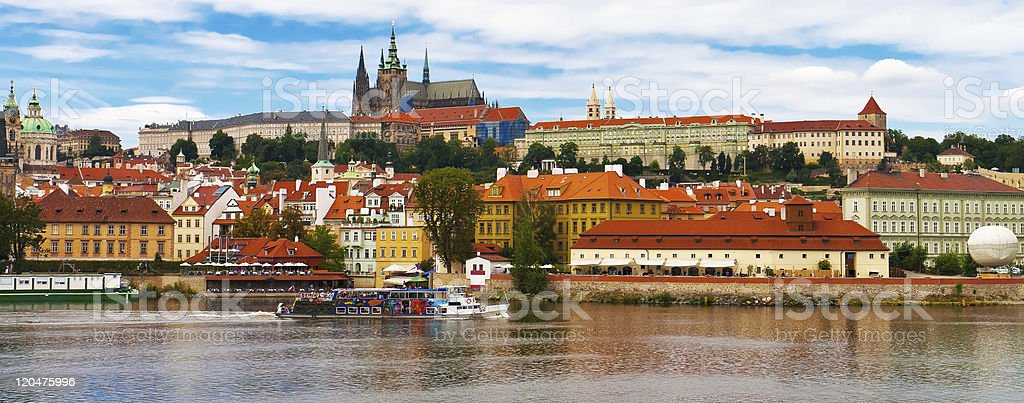 Panorama of Prague, Czech Republic royalty-free stock photo