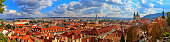 Panorama of Prague on a sunny day.