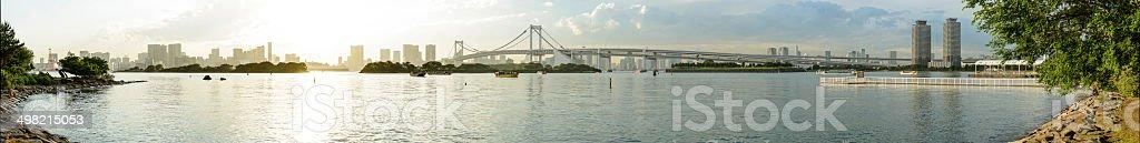 Panorama of rainbow bridge royalty-free stock photo