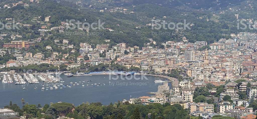 panorama of Rapallo stock photo