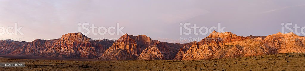 Panorama of Red Rocks Canyon landscape stock photo