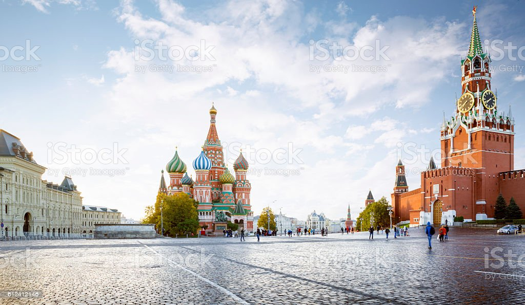 Panorama of Red Square in Moscow, Russia stock photo