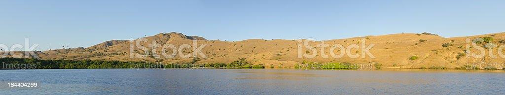 Panorama of Rinja Island shores stock photo