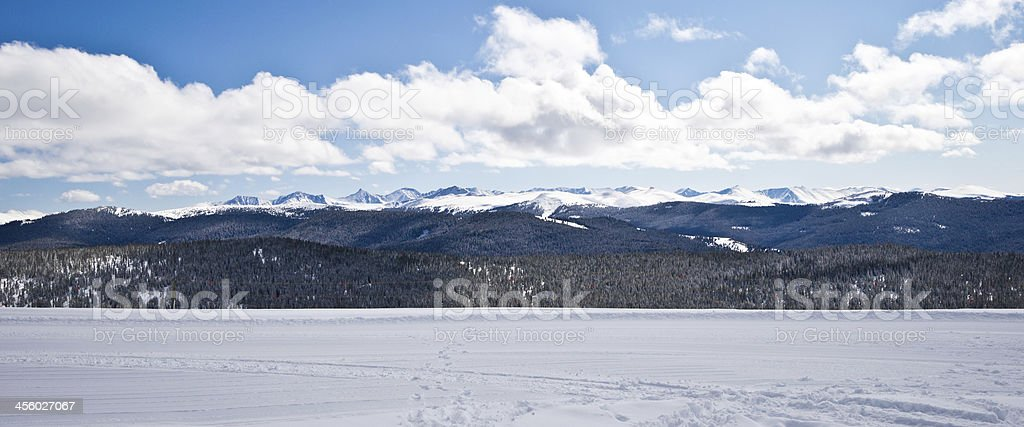 Panorama of Rocky Mountains in Colorado, U.S.A. royalty-free stock photo