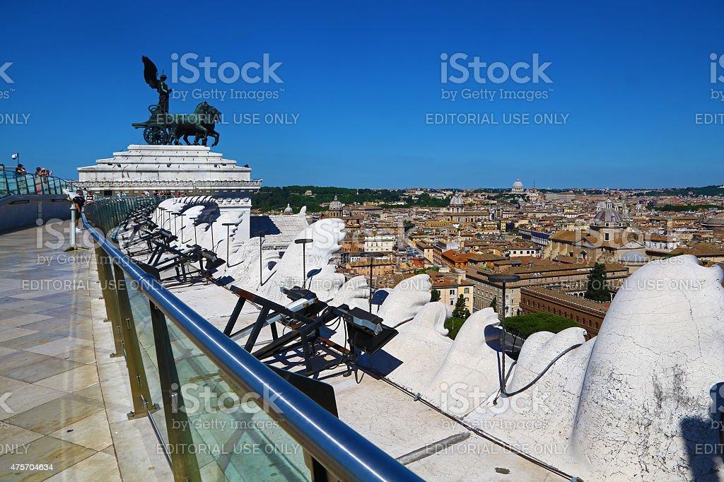 Panorama of Rome and Vittoriano stock photo