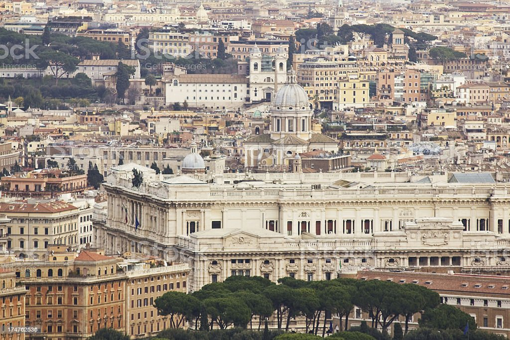 Panorama of Rome royalty-free stock photo