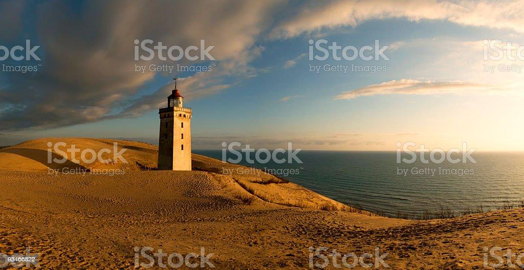 Panorama of Rubjerg Knude lighthouse stock photo