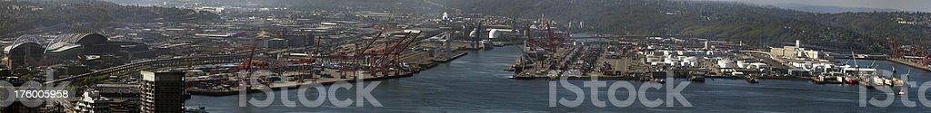 Panorama of Seattle Harbor (XXXL) stock photo