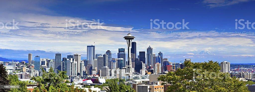 Panorama of Seattle stock photo