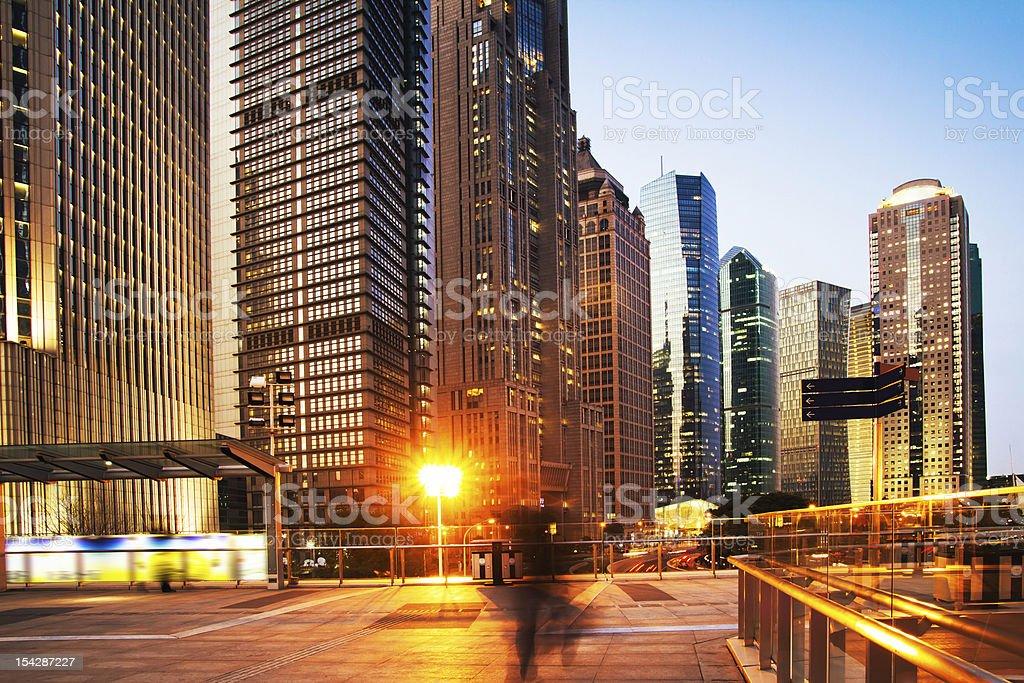 panorama of Shanghai stock photo