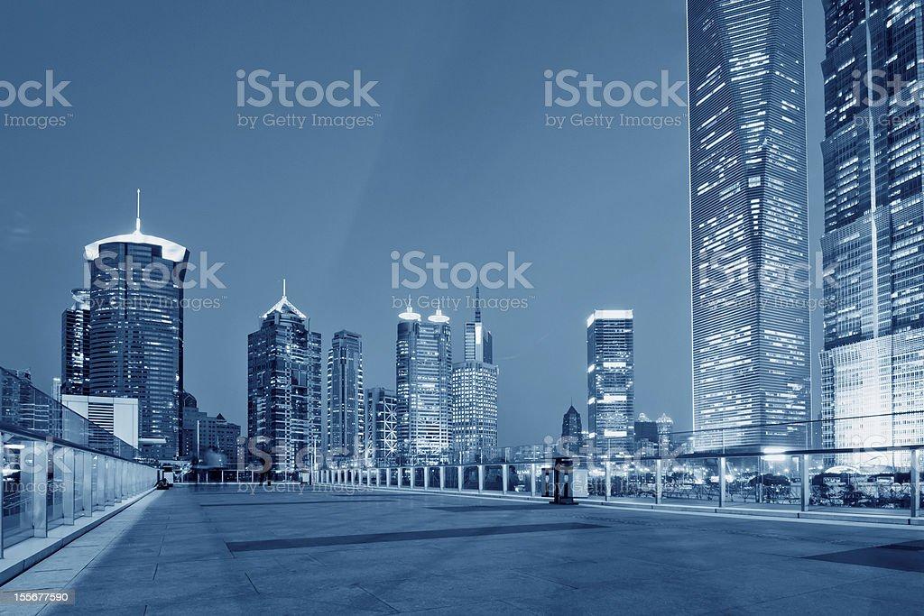 panorama of Shanghai royalty-free stock photo