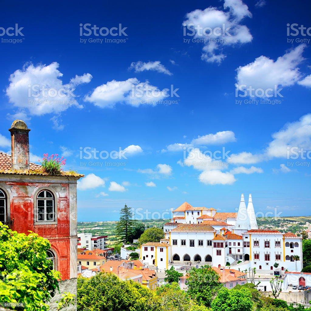 Panorama Of Sintra stock photo