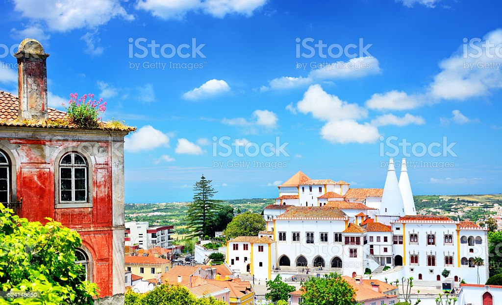 Panorama Of Sintra stock photo