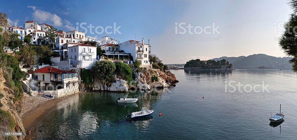 Panorama of Skiathos, Greece royalty-free stock photo