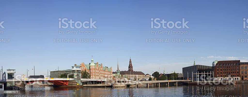 Panorama of Slotsholmen stock photo